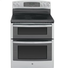 """(LOANER FLOOR MODEL 1 ONLY) GE® 30"""" Free-Standing Electric Double Oven Range with Convection"""