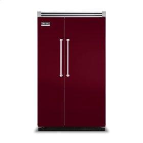 """Burgundy 48"""" Side-by-Side Refrigerator/Freezer - VISB (Integrated Installation)"""