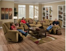 "Chaise ""Swivel"" Glider Recl - Chocolate"