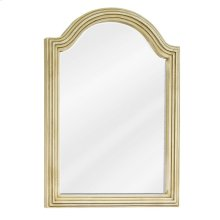 """22"""" x 30"""" Buttercream reed-frame mirror with beveled glass"""