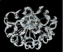 2068 Tiffany Collection Flush Mount Chrome Finish (Elegant Cut Crystals)