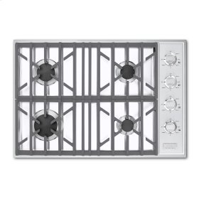 "White 30"" Gas Cooktop - VGSU (30"" wide, four burners)"