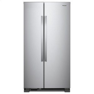 33-inch Wide Side-by-Side Refrigerator - 22 cu. ft. - MONOCHROMATIC STAINLESS STEEL