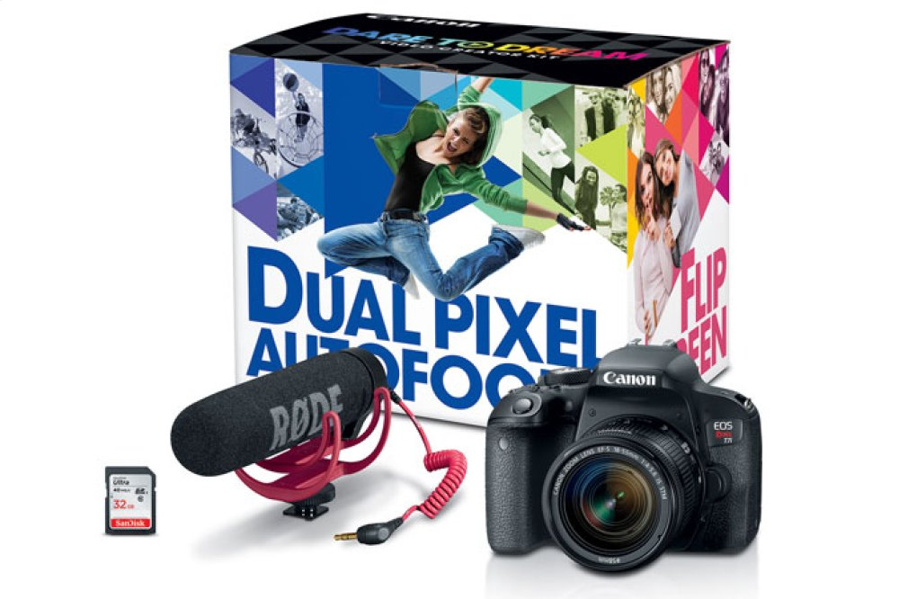 Canon EOS Rebel T7i Video Creator Kit EOS Digital SLR