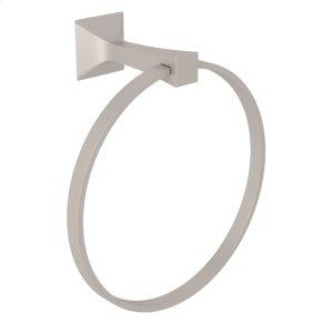 Satin Nickel Vincent Wall Mount Towel Ring