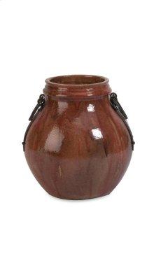 Elnora Short Vase with Iron Handles
