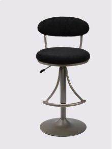 Venus Stool Black With Silver Base