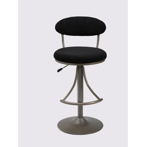 Hillsdale FurnitureVenus Stool Black With Silver Base