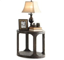 Bellagio Round Side Table Weathered Worn Black finish