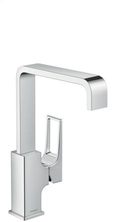 Chrome Metropol 230 Single-Hole Faucet with Loop Handle, 1.2 GPM