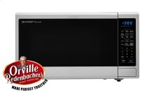 1.4 cu. ft. 1000W Sharp Black Carousel Countertop Microwave Oven