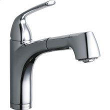 Elkay Gourmet Single Hole Bar Faucet Pull-out Spray and Lever Handle
