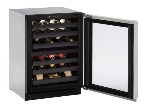 "Modular 3000 Series 24"" Wine Captain® Model With Stainless Frame (lock) Finish and Left-hand Hinged Door Swing (115 Volts / 60 Hz)"
