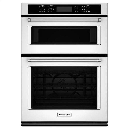 """KitchenAid® 30"""" Combination Wall Oven with Even-Heat True Convection (Lower Oven) - White"""