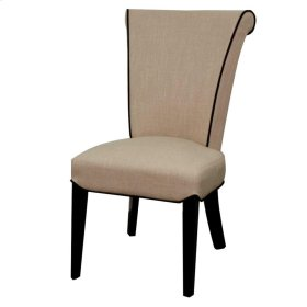 Bentley Fabric Chair Black Legs, Flax