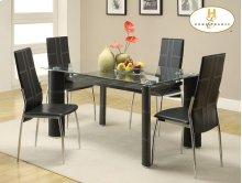 Rectangular Glass Top Dining Table