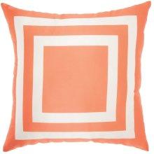 "Outdoor Pillow As551 Orange 20"" X 20"" Throw Pillow"