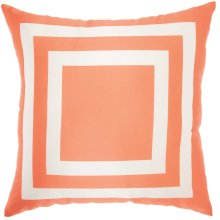 "Outdoor Pillow As551 Orange 20"" X 20"" Throw Pillow"
