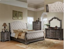Sheffield K Sleigh Bed Hb Antq Grey