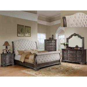 B1120 Sheffield Grey Sleigh Queen Bed