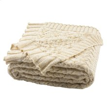 Adara Knit Throw - Natural / Gold