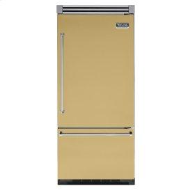 "Golden Mist 36"" Quiet Cool™ Bottom-Mount Refrigerator/Freezer - VIBB Tru-Flush™ (Right Hinge Door)"