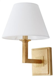 Pauline Wall Sconce - Gold Shade Color: Off-White