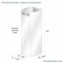 Chimney Extension - Murano/pearl Island, Range Hood