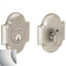 Polished Nickel with Lifetime Finish Arched Deadbolt