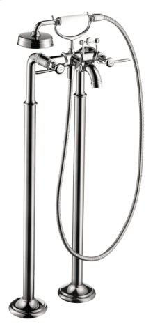 Chrome Montreux Freestanding 2-Handle Tub Filler Trim with Lever Handles