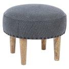 Round Grey Stool Product Image
