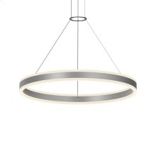 "Double Corona 32"" LED Ring Pendant"