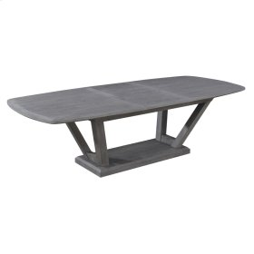 """Complete Dining Table-top W/24"""" Butterfly Leaf & Base-slate Finish"""