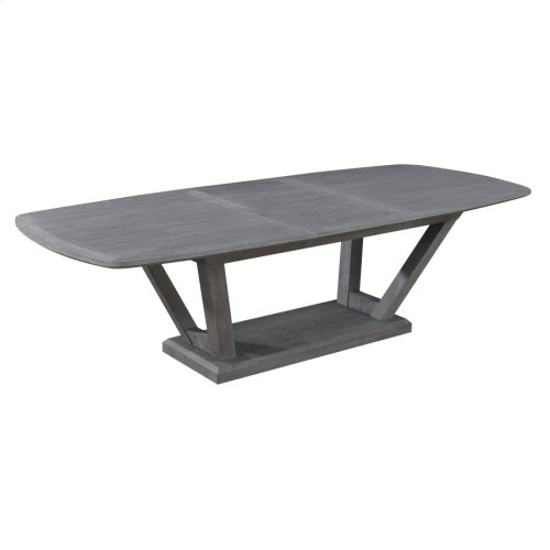 "Complete Dining Table-top W/24"" Butterfly Leaf & Base-slate Finish"