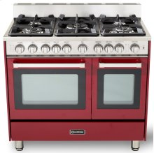 "36"" Gas Double Oven Range Burgundy 4"" B/G"