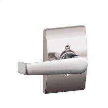 Elan Lever with Century trim Non-turning Lock - Bright Chrome