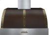 Hood DECO 36'' Brown matte, Bronze 1 power blower, electronic buttons control, baffle filters