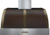 Hood DECO 36'' Brown matte, Bronze 1 power blower, electronic buttons control, baffle filters