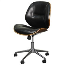 Noelle Office Chair, Black/Walnut