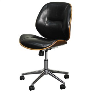 Noelle Office Chair, Black/Walnut