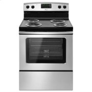 Amana® 30-in. Amana® Electric Range Oven with Storage Drawer - Black-on-Stainless Product Image