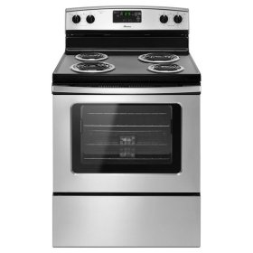 Amana® 30-in. Amana® Electric Range Oven with Storage Drawer - Black-on-Stainless
