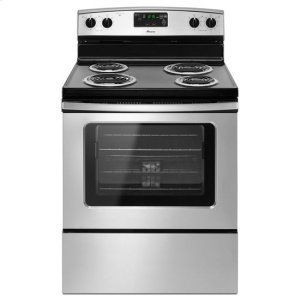 AmanaAmana(R) 30-in. Amana(R) Electric Range Oven with Storage Drawer - Black-on-Stainless