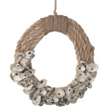 Abaca Rope and Oyster Shell Wreath.