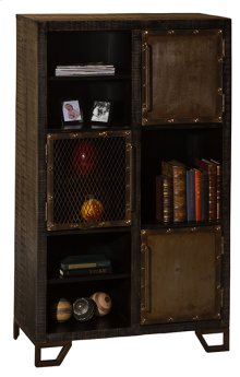 Bridgewater Tall Accent Cabinet - Rubbed Black Wood