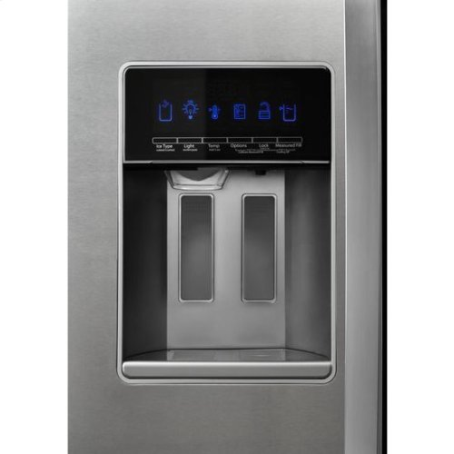 Whirlpool® 36-inch Wide Counter Depth Side-by-Side Refrigerator - 21 cu. ft. - Fingerprint Resistant Stainless Steel