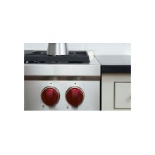 "48"" Gas Range Red Knobs"