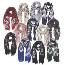 24 pc. assortment. Embroidered Scarves