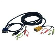 VGA/USB/Audio Combo Cable Kit for KVM Switch B006-VUA4-K-R, 10-ft.
