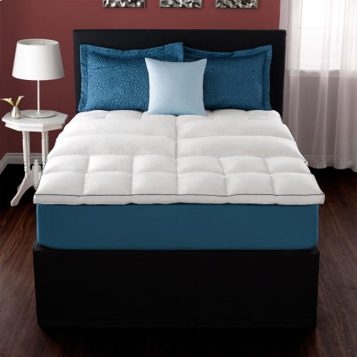 California King Deluxe Lumbar Feather Bed Mattress Topper CalKing